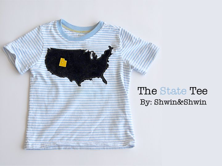 Shwin: The State Tee {Boys Summer Collection}.  I would love to make this - too bad Colorado is such a boring state shape.