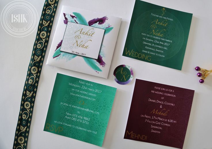 A full view of our watercolour inspired invitation. #scodix #southafrica #wedding #weddinginvitation #watercolor #event #eventstationery #eventplanning #eventart #ishk #lamination #invitation #weddinginvitation #shaadi #customdesign #graphicdesign #weddingdetails #details