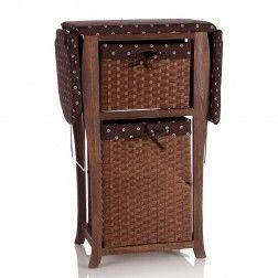 Mueble plancha madera marr n muebles para planchar en - Mueble plancha plegable ...