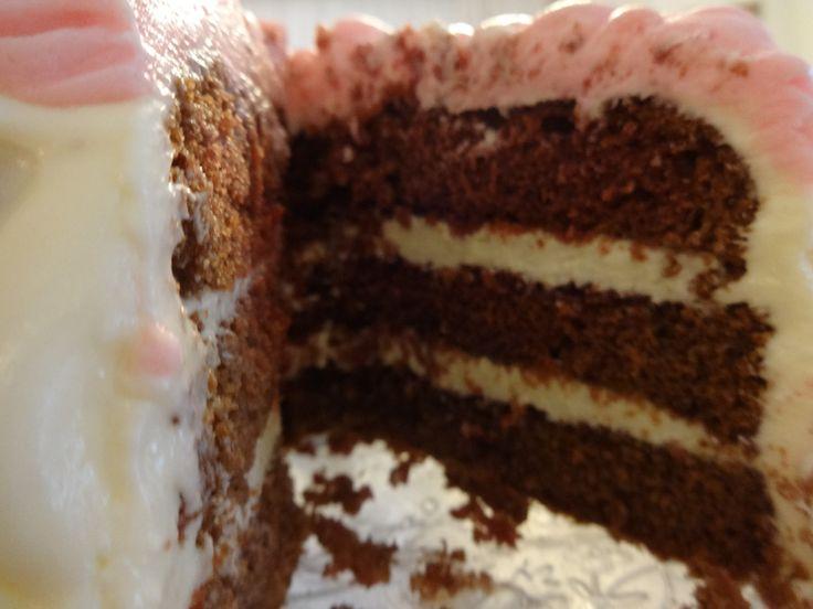 Red velvet cake with buttercream