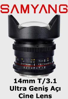 Samyang 14mm T3.1 Ultra Geniş Açı Sinema Serisi Objektif  Canon EF Mount Uyumlu Samyang Sinema Serisi Lens    Diyafram Aralığı: T/Stop 3.1 – 22  Fokus Aralığı: 0.28m – Sonsuz  Açı: 114°    Follow Focus aparatlarına uyumludur. Adaptör ring gerektirmez.  Rezervasyon & Bilgi için: 0533 548 70 01 info@filmekipmanlari.com http://filmekipmanlari.com/kiralik-samyang-14mm-t3-1-lens/