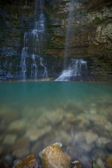 One of my favorite places on God's green Earth.  Twin Falls, Camp Orr, Jasper, Arkansas