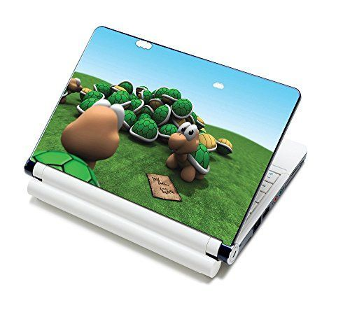 Meffort Incآ® 15 15.6 Inch Laptop Notebook Skin Sticker Cover Art Decal - Fits 13.3 14 15 16 HP Dell Lenovo Asus Compaq Asus Acer Computers (Free Wrist Pad) (Welcome Turtle)