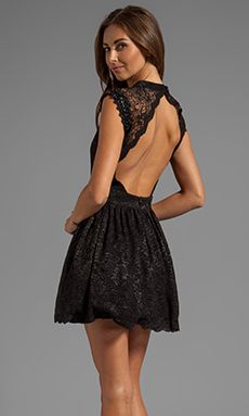 robe dentelle noir, dos nu black lace dress, open back