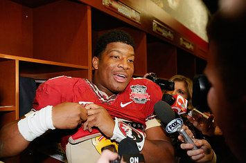 "FSU Quarterback Jameis Winston Suspended Half A Game For Screaming ""F#@k Her Right In The P#$"