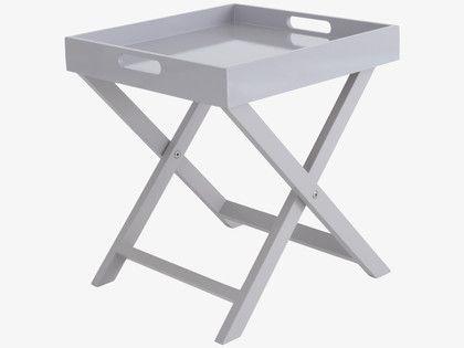 40cm x 40cm £35 OKEN Grey folding side table