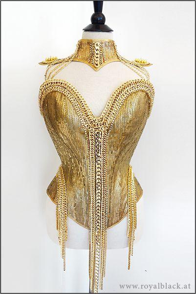 "Royalblack - Couture Corset ""Pure Gold"""