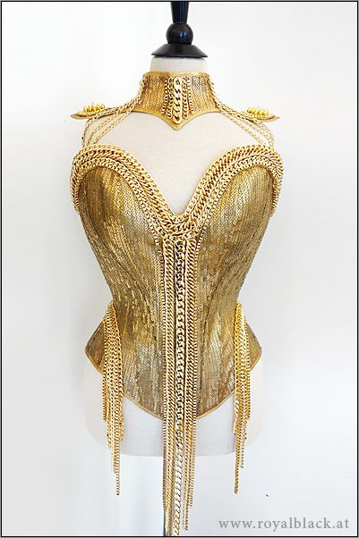 "Royalblack - Couture Corset ""Pure Gold"""