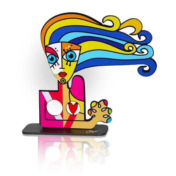 "Francisco Ceron. Colombia: A Woman's Heart Digital art over PVC 24""x25"