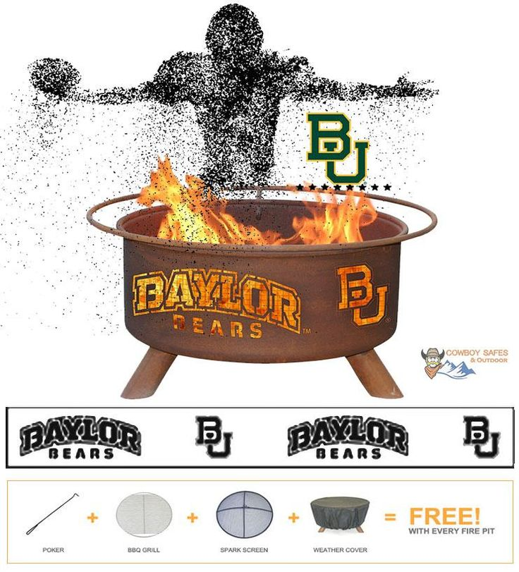Show Your Pride and Entertain your Friends with the Baylor Fire Pit! – College Fire Pit