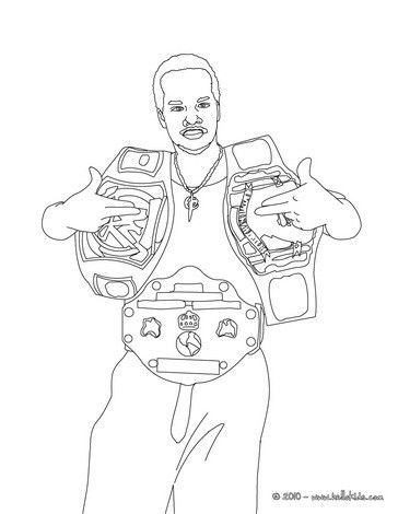 wrestling cards coloring pages - photo#8