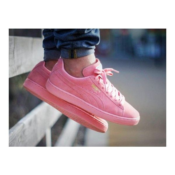 Puma Suede Classic wmns 'Pastel Pack' Pink (by... – Sweetsoles –... ❤ liked on Polyvore featuring shoes, sneakers, pink sneakers, suede shoes, pink suede shoes, pastel sneakers and pastel pink shoes