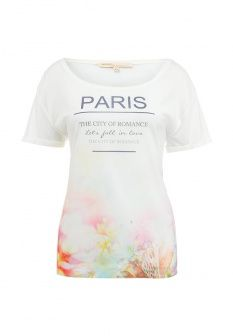 Футболка Modis, цвет: белый. Артикул: MO044EWFMO11. Женская одежда / Футболки и поло