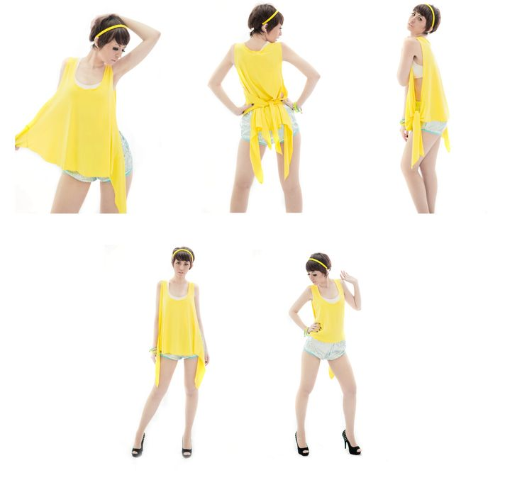 Neon Blink 2013 Collection  Lemon Loose Top  Blink Short