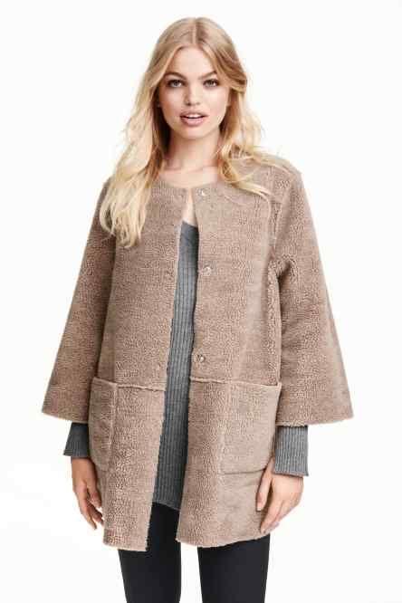 Oboustranný plyšový kabát