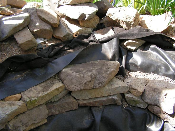 How to hide a pond liner pond and water garden diy ideas for Diy cheap pond liner