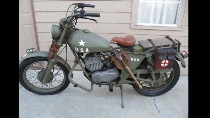1976 AMF Harley Davidson Aermacchi SS250 WW2 Military style motorcycle. -  YouTube