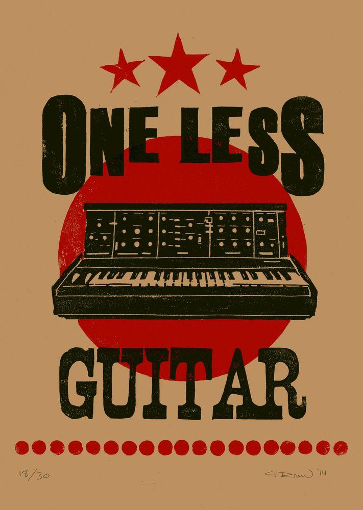 One Less Guitar: Synthesizer   Papirklipp