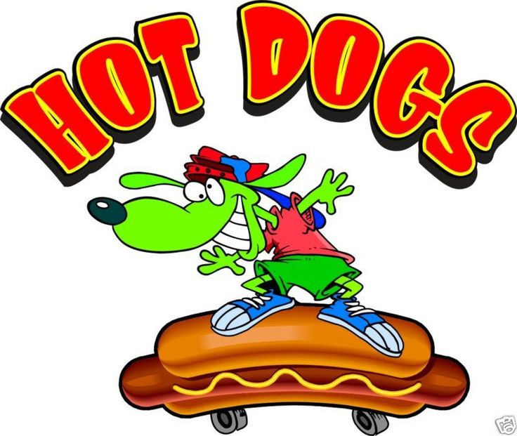"Hot Dogs Skateboard Hotdogs Food Concession Decal 12"" #HarbourSigns"