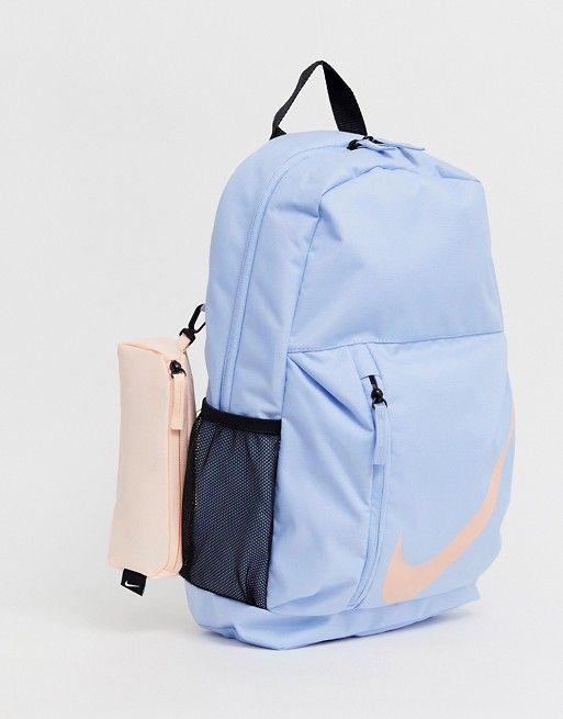 Nike blue large logo backpack