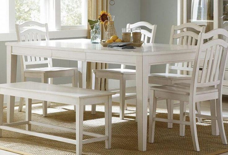 Set Kursi Makan Minimalis Jepara C-5RV terbuat dari material kayu jati berkualitas dengan desain minimalis yang kami sempurnakan dengan finishing duco putih