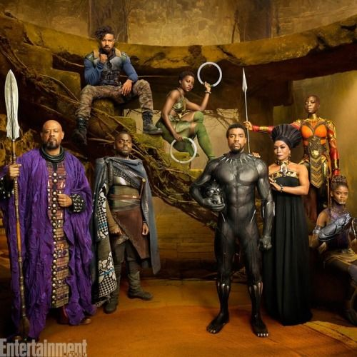 Black Panther Cast Group Photo for Entertainment Weekly