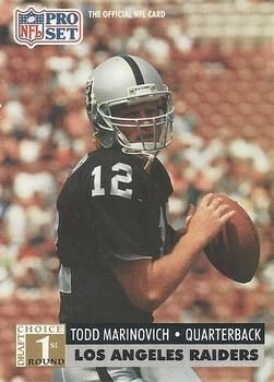 1991 Pro Set #753 Todd Marinovich Front