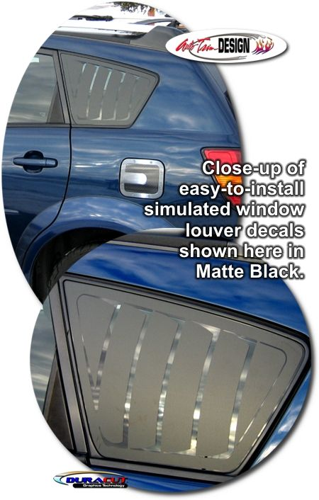 Simulated Window Louver Decal Kit for Pontiac Vibe