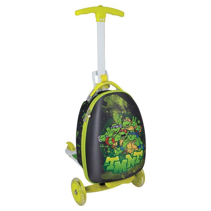 Teenage Mutant Ninja Turtles Scootie Kids Scooter Luggage, Deep Sage