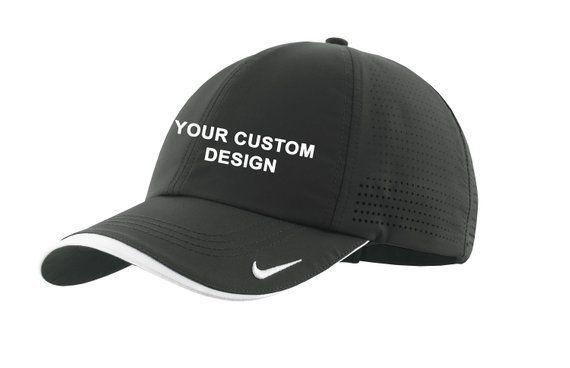 Nike Dri-FIT Swoosh Perforated Cap   Custom Embroidered Hat   Performance  Dri-FIT 854b0dd465a