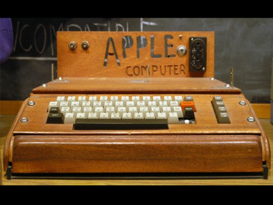 1976 - Apple I  Steve Jobs and Steve Wozniak launched the very first Apple computer in April of 1976.
