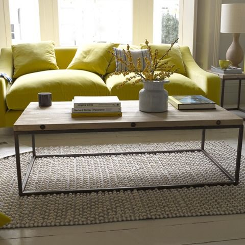 Poste coffee table with Bobble rug Loaf.com