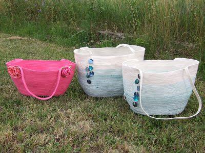"""Konieczność kreatywna: Sznurkowa torba na """"plażing"""" :)"""