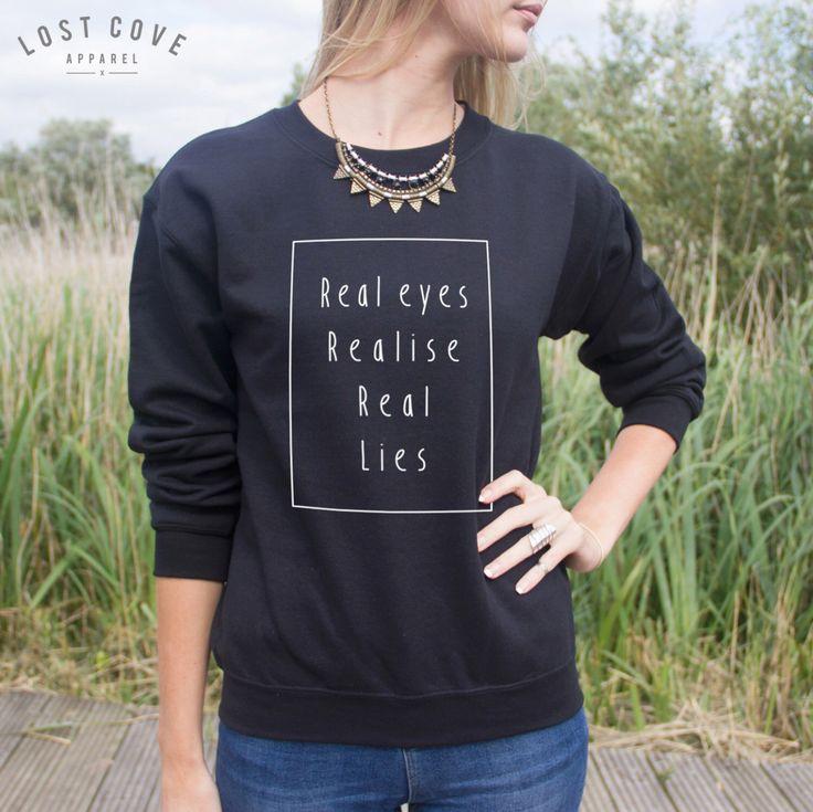Occhi veri realizzare reale menzogne Jumper maglione moda Hipster dichiarazione di Grunge Larry Stylinson di LostCoveApparel su Etsy https://www.etsy.com/it/listing/204031585/occhi-veri-realizzare-reale-menzogne