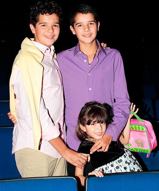 Itatí Cantoral, orgullosa de sus hijos, Roberto y Eduardo, ante su debut en la TV