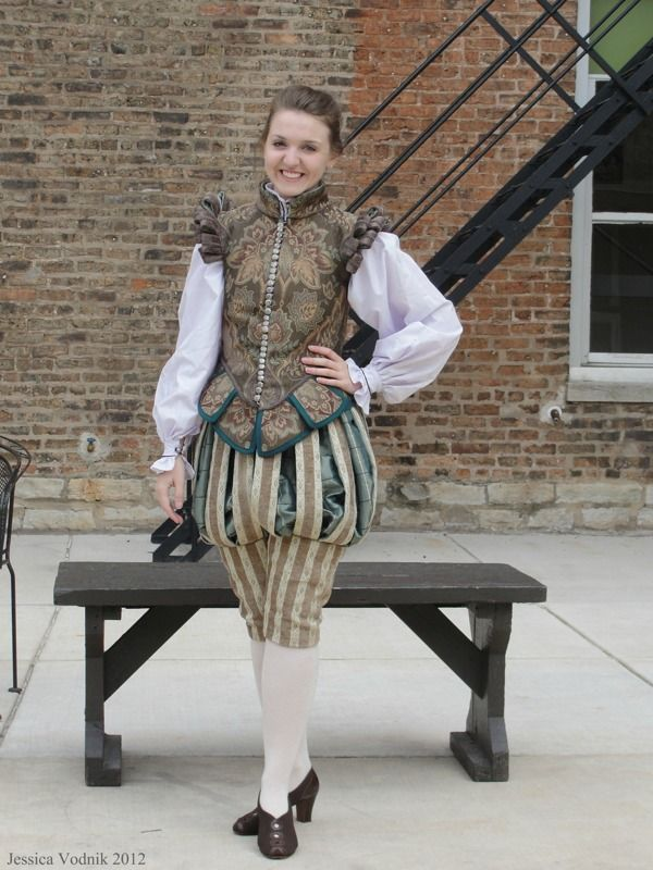 Ladies can totally rock a male doublet--more comfortable than corsets, and quite flattering if you tailor it to fit.