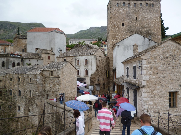 Coming into the old town area, Mostar, BiH.