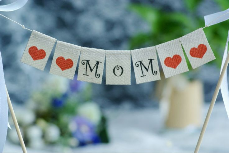 >> Click to Buy << MOM For Mother's Day or Mom's Birthday Cake Banner,Burlap Banner #Affiliate