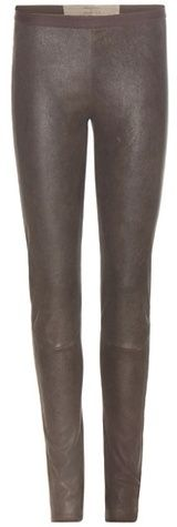Rick Owens New Simple Leather Leggings