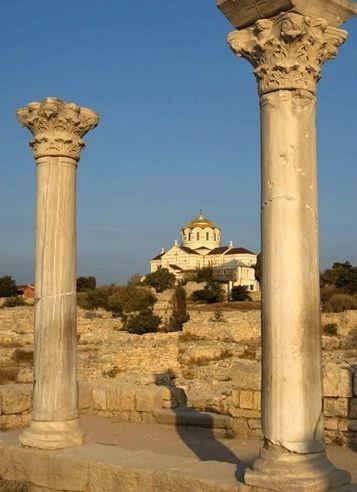 Images National Preserve of Tauric Chersonesos in Sevastopol Ancient Greek ruins 5347    (Is it Sepasdia? Sevaz?)