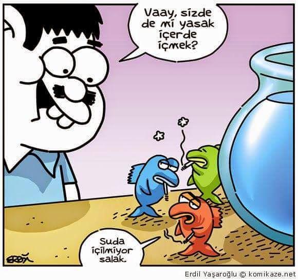 Karikaturiks | Gülümse biraz.!: Sigara Yasağı Heryerde :) #karikatür #caps