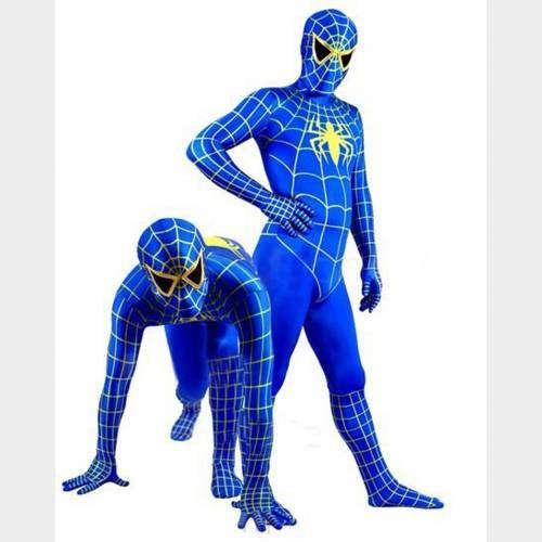 Soyez encore plus original que Spiderman grâce à ce costume Spiderman bleu qui saura vous démarquer des autres grâce à sa couleur unique et son design travaillé en détails