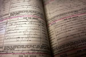 10 Types of Marriage Records for Family History Research: Old marriage license…
