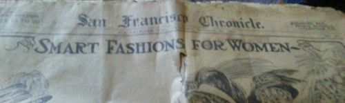 San Francisco Chronicle Newspaper Oct 31 1908 Section II Fashion local news ads | eBay