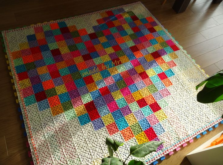 Crochet Moodblanket 2015: Granny Heart Project by made by Mriek
