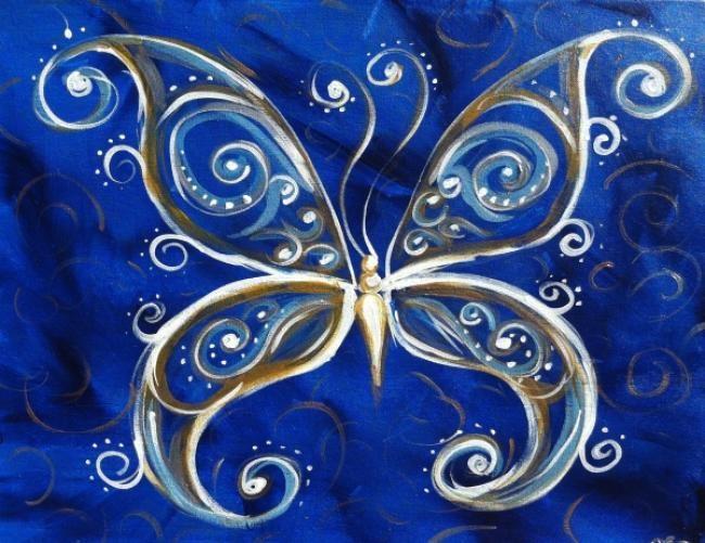 Uptown Art Calendar Jupiter : Ideas about butterfly painting on pinterest