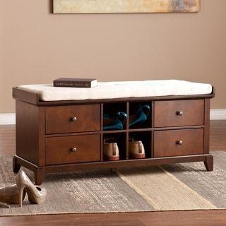 Harper Blvd Hugh Shoe Storage Bench   Overstock.com Shopping - The Best Deals on Benches
