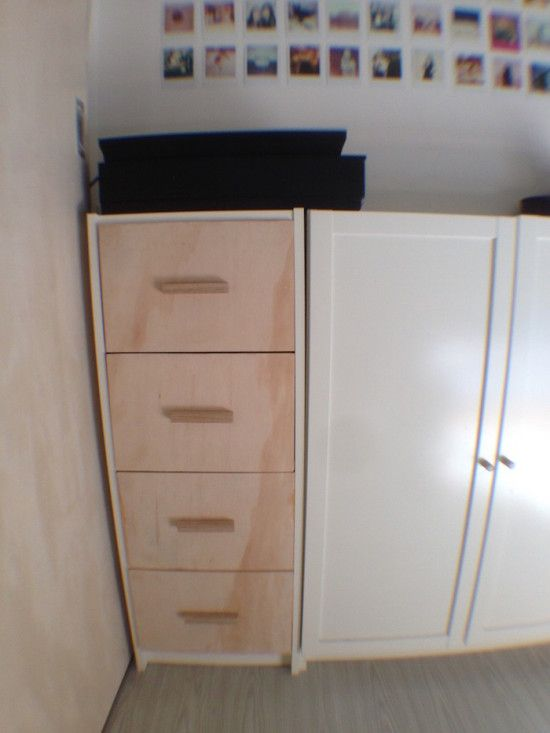 Billy chest of drawers ikea hackers ikea hacks for Ikea backless bookcase