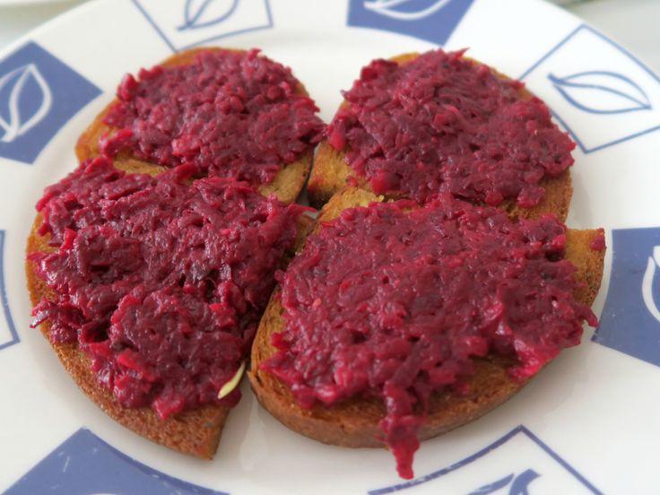 Tatarák z červené řepy / Beet-root tartar
