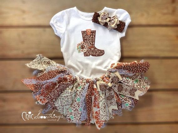 Fabric Tutu Cowgirl Barn Country Shabby Chic by ChicSomethings, $35.00